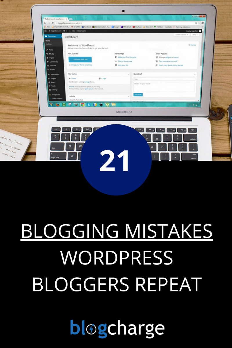 Most Common Blogging Mistakes by WordPress Bloggers