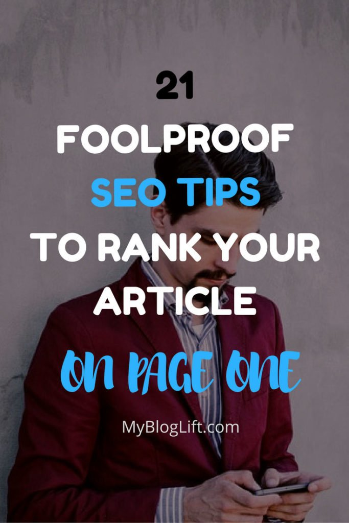 21 SEO Tips to Write An SEO Optimized Article