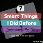 Smart Things Before Launching Blog