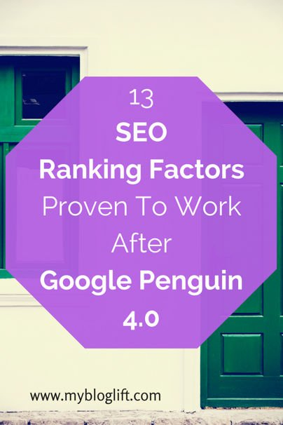 13 SEO factors working in 2016
