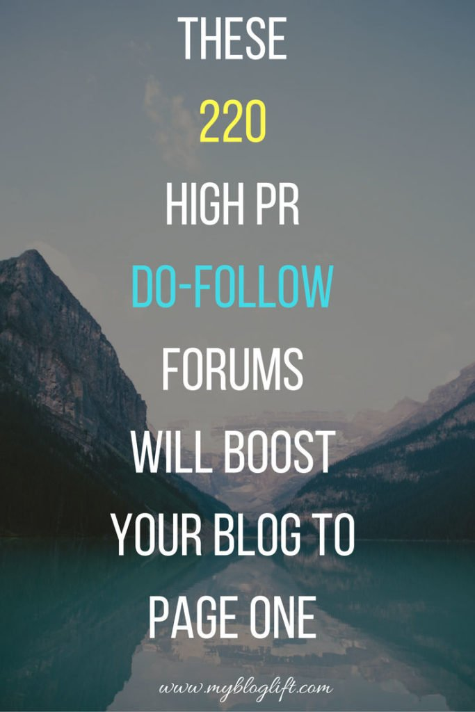 220 High Pr Do-Follow Backlinks from Froums