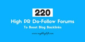 High PR DoFollow Forums Backlinks
