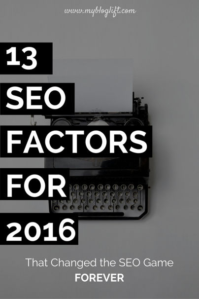 Game changing SEO Factors