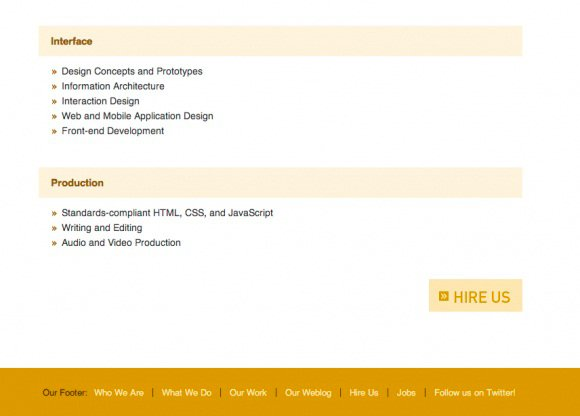 Service page example