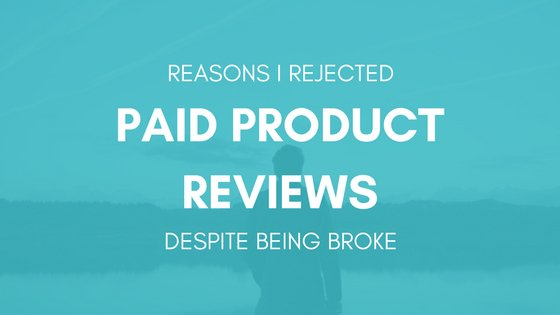 Rejected Paid Product Reviews
