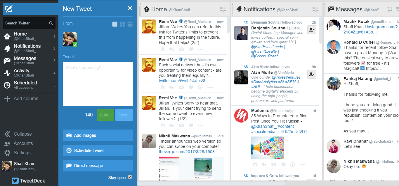 Tweetdeck for twitter