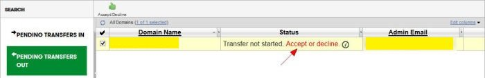Accept Pending Transfer