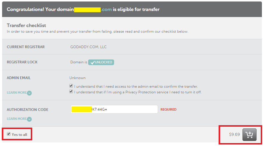 Transfer A Domain NameCheap 2