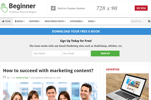 beginner-WordPress-Theme-demo