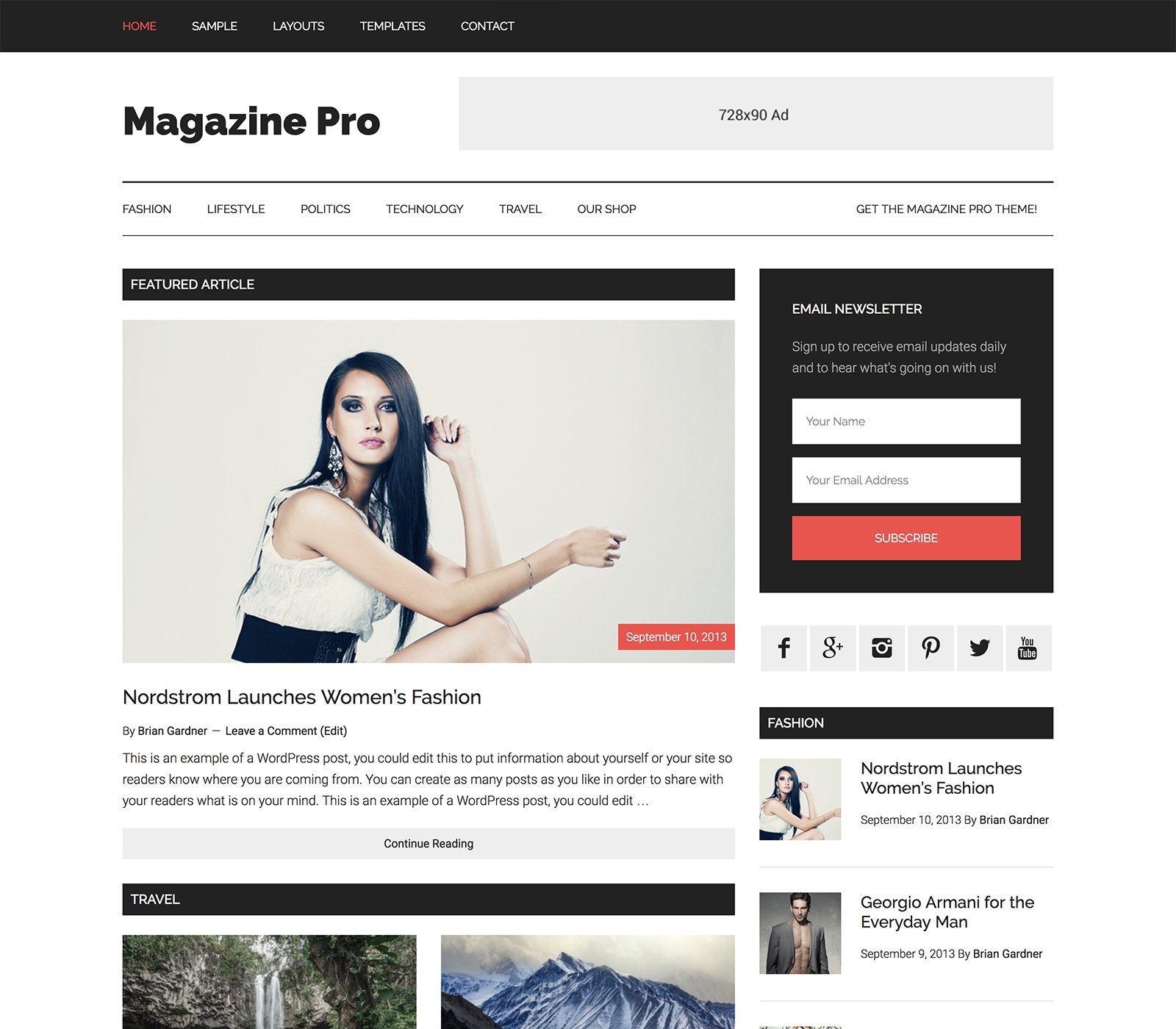 magazine-pro wordpress theme demo