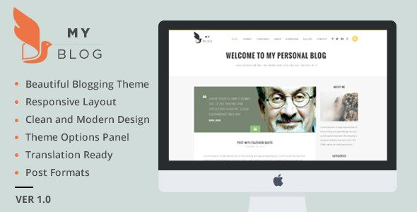 myblog wordpress theme demo