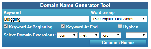 Name Stall Domain Name Generator