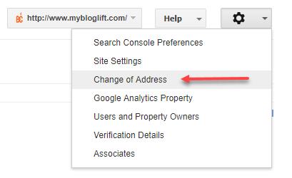 Change of Address Google Tool