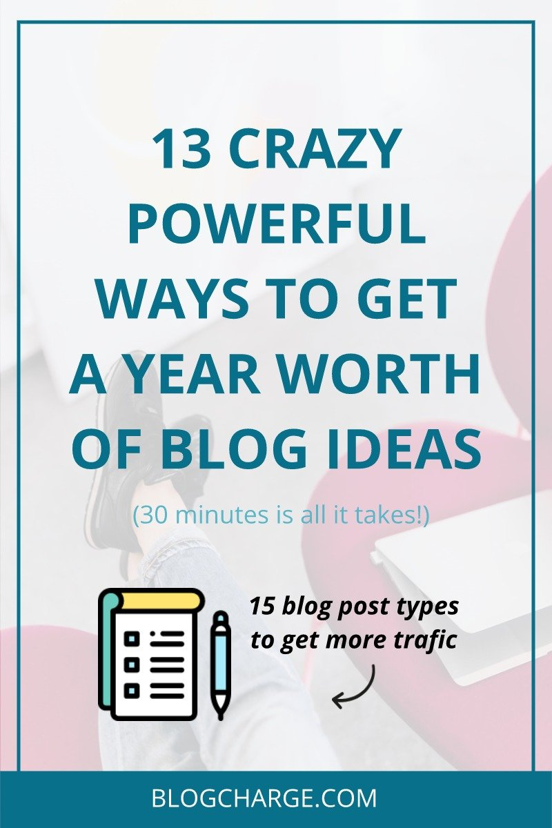 Blog Post Ideas - Year Worth of Content in 30 Minutes