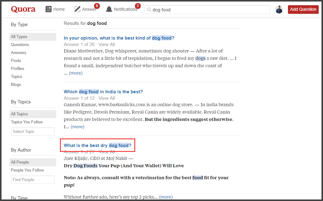 Get New Blog Post Ideas from Quora