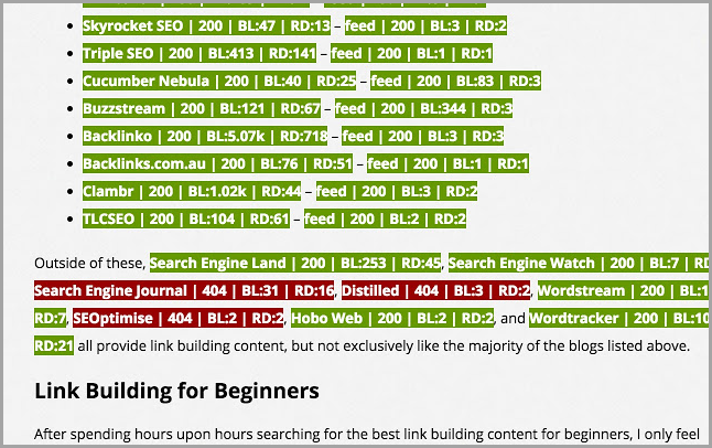 LinkMiner Chrome Extension for Bloggers