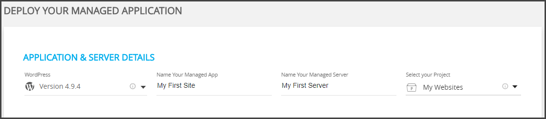 Create a new server Cloudways