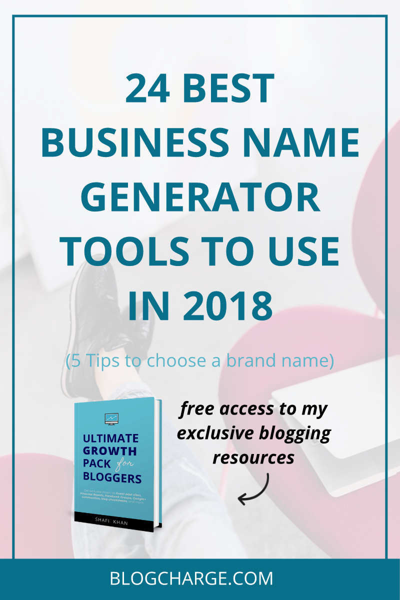 Best Business Name Generator Tools in 2018 Pinterest Image