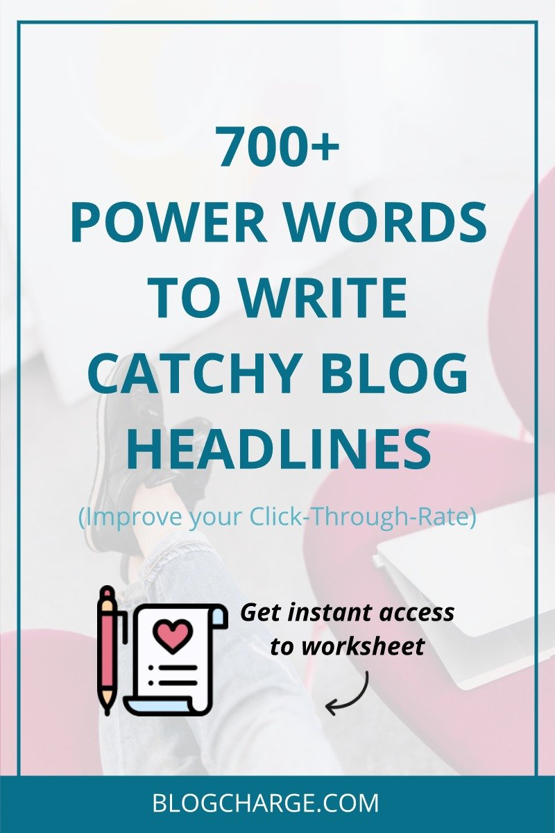 Catchy Words List Power Words for Bloggers