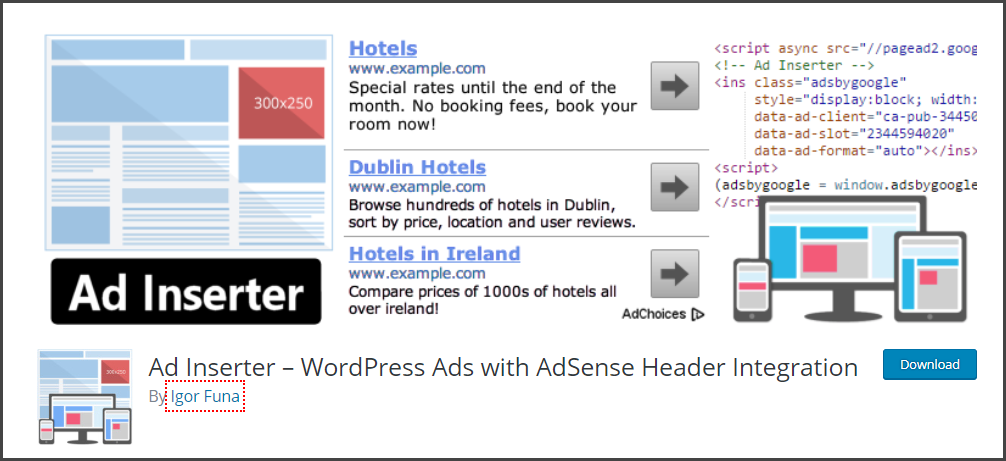Ad Inserter - Best WordPress Plugins for Blogs