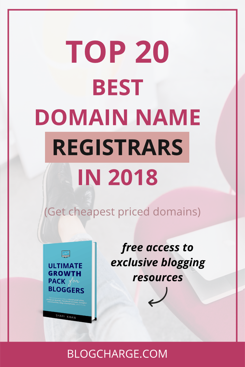 Best Domain Registrars in 2018 Pinterest pin