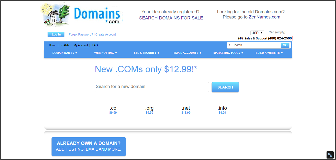 Domains - Best Domain Name Registrars