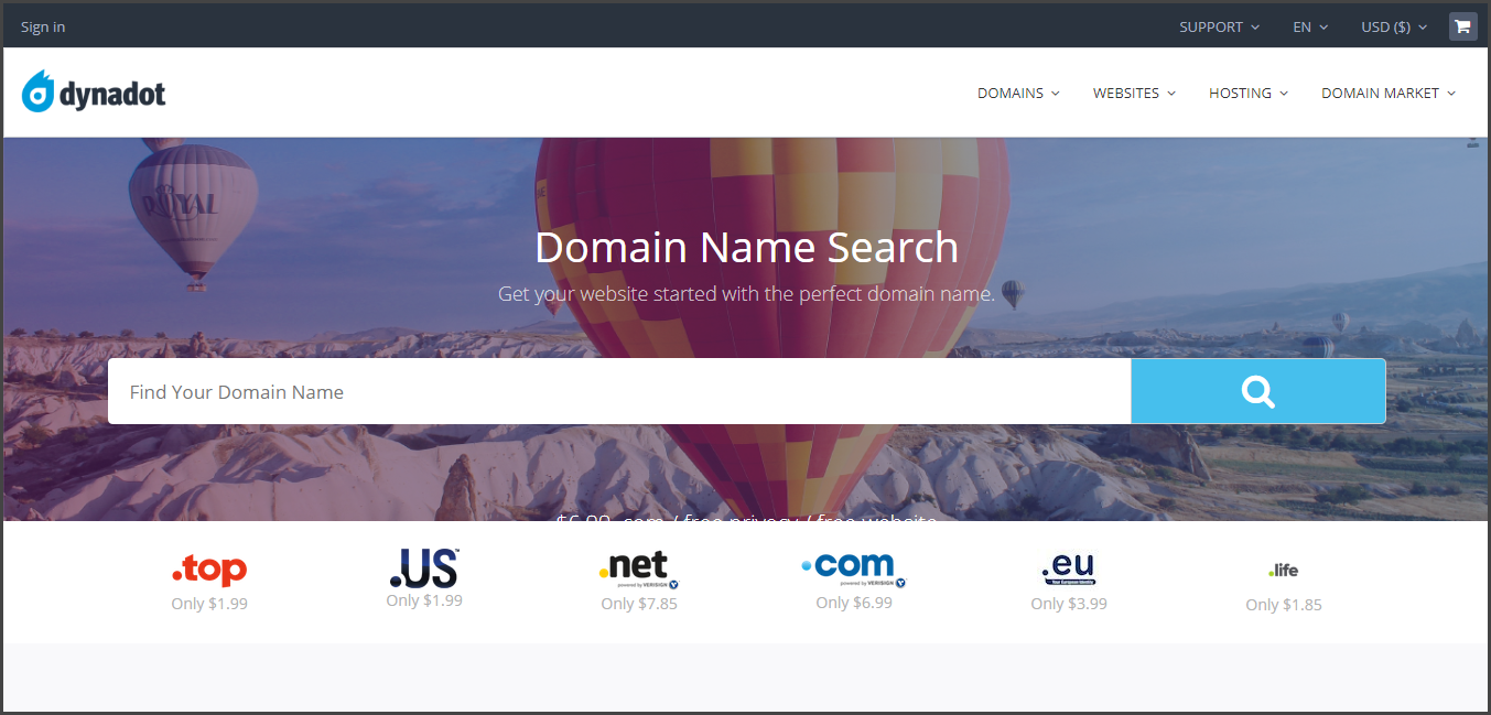 Dynadot - Best Domain Name Registrars