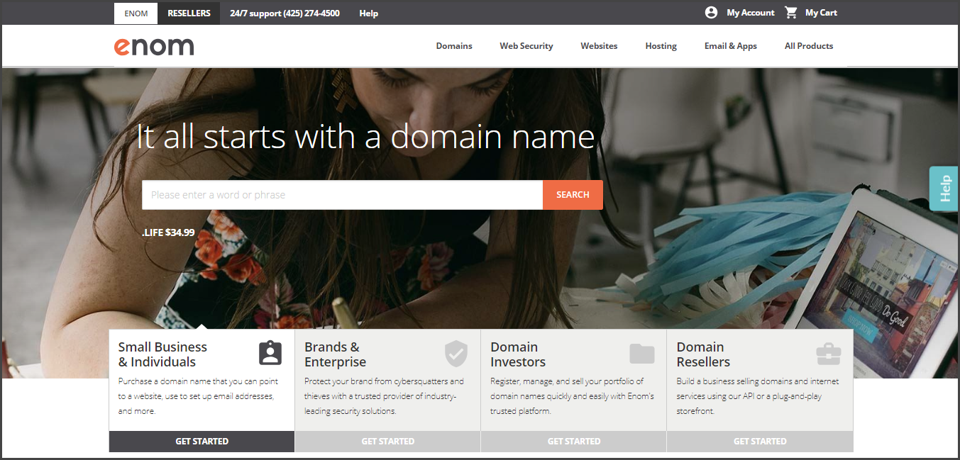 ENom - Best Domain Name Registrars
