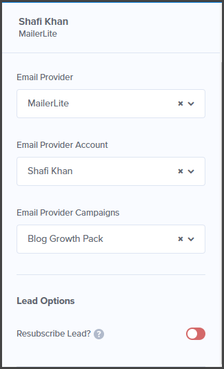 Email Integration example