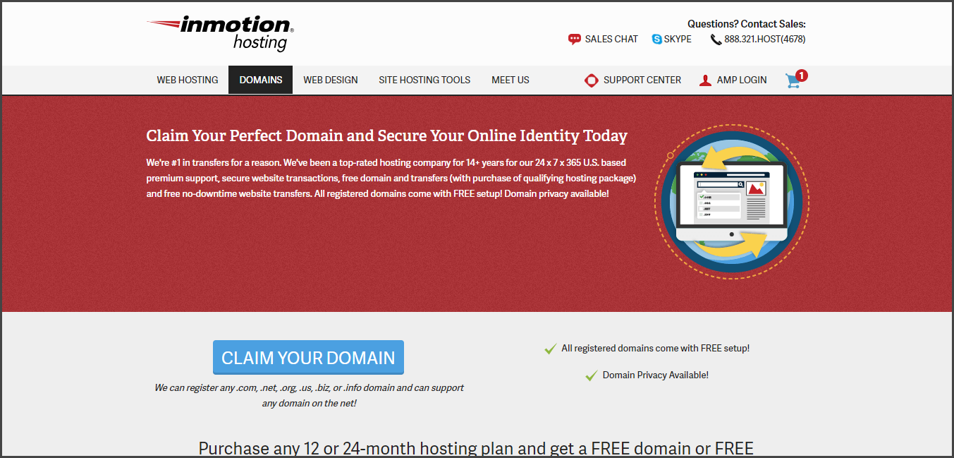 InMotion - Best Domain Name Registrars
