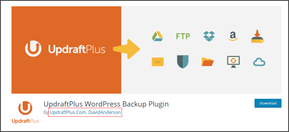 UpDraftPlus - Best WordPress Plugins for Blogs