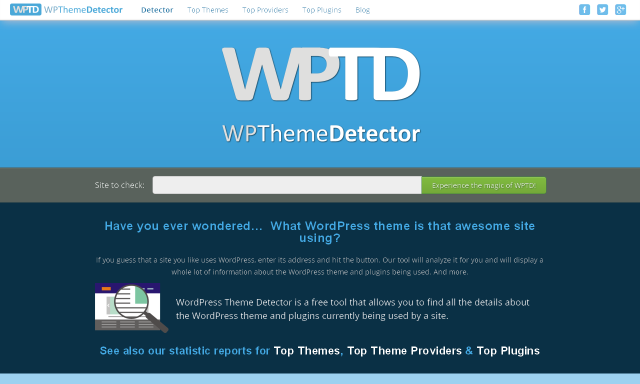 Tools to Spy on Competitors WP Theme Detector