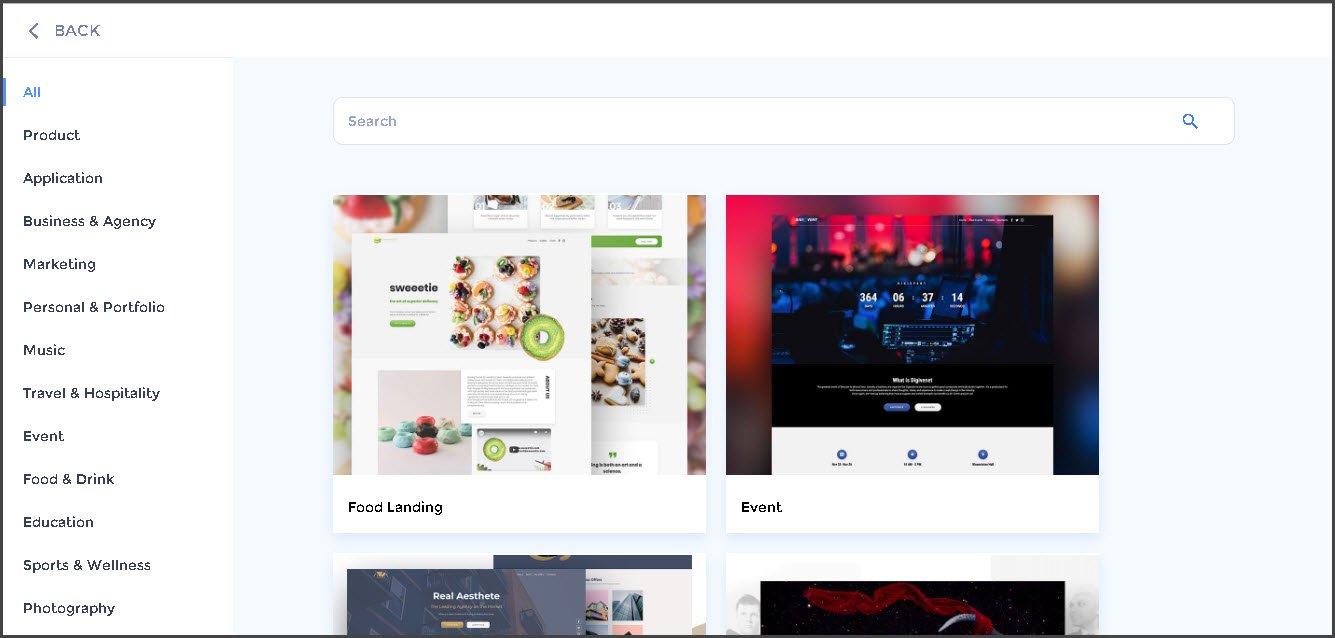 Readymade Templates for Website Maker